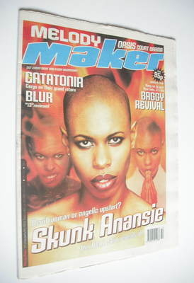 <!--1999-03-13-->Melody Maker magazine - Skunk Anansie cover (13 March 1999