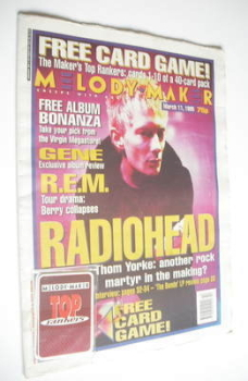Melody Maker magazine - Radiohead cover (11 March 1995)