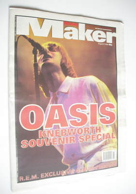 <!--1996-08-17-->Melody Maker magazine - Liam Gallagher cover (17 August 19