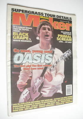 <!--1997-09-20-->Melody Maker magazine - Noel Gallagher cover (20 September