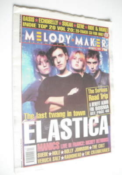 <!--1994-10-08-->Melody Maker magazine - Elastica cover (8 October 1994)