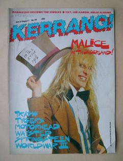<!--1985-07-25-->Kerrang magazine - Jay Reynolds cover (25 July-7 August 19