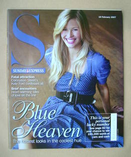 <!--2007-02-18-->Sunday Express magazine - Blue Heaven cover - 18 February