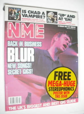 <!--1999-02-13-->NME magazine - Blur cover (13 February 1999)
