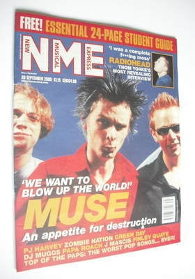 <!--2000-09-30-->NME magazine - Muse cover (30 September 2000)