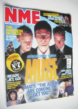 NME magazine - Muse cover (13 September 2003)