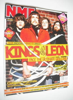 NME magazine - Kings Of Leon cover (11 October 2003)
