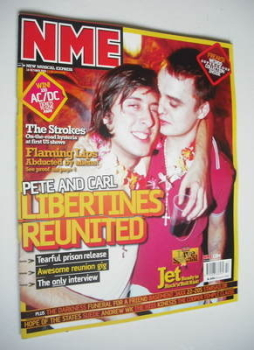 NME magazine - The Libertines cover (18 October 2003)