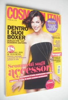 Italian Cosmopolitan magazine - Milla Jovovich cover (October 2012)