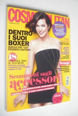 <!--2012-10-->Italian Cosmopolitan magazine - Milla Jovovich cover (October