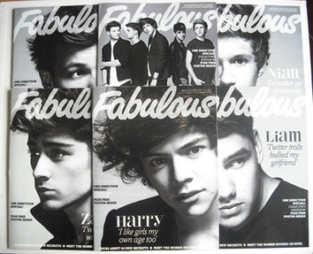<!--2012-09-30-->Fabulous magazine - Set Of Six One Direction covers (30 Se
