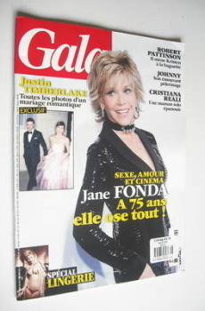 Gala magazine - Jane Fonda cover (7 November 2012 - French Edition)
