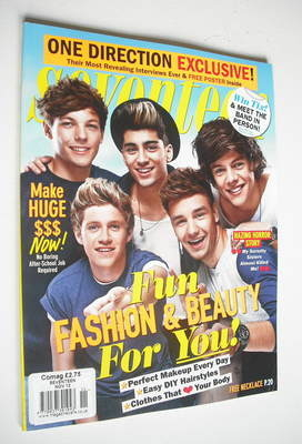 <!--2012-11-->Seventeen magazine - November 2012 - One Direction cover