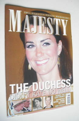 <!--2012-11-->Majesty magazine - Kate Middleton cover (November 2012)