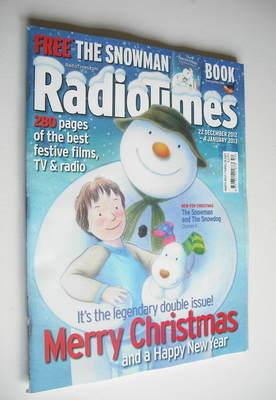<!--2012-12-22-->Radio Times magazine - Snowman & Snowdog cover (22 Decembe