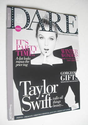 <!--2012-11-->Dare magazine - Taylor Swift cover (November/December 2012)