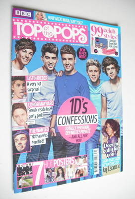 <!--2012-10-10-->Top Of The Pops magazine - One Direction cover (10 October