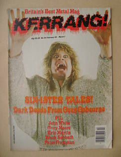 <!--1986-02-20-->Kerrang magazine - Ozzy Osbourne cover (20 February-5 Marc