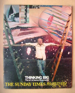 <!--1981-03-01-->The Sunday Times magazine - James Rosenquist cover (1 Marc
