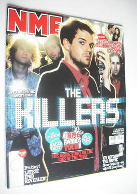 <!--2005-01-22-->NME magazine - The Killers cover (22 January 2005)
