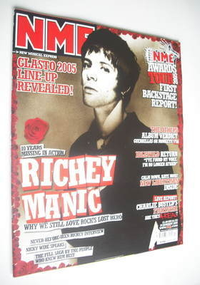 <!--2005-01-29-->NME magazine - Richey Edwards cover (29 January 2005)
