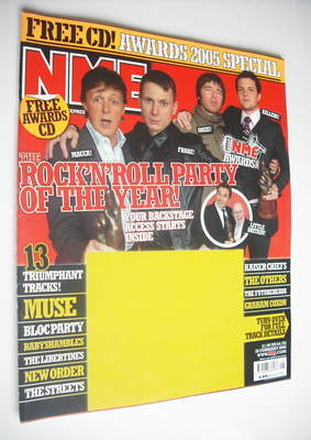 <!--2005-02-26-->NME magazine - Rock 'n' Roll Party cover (26 February 2005