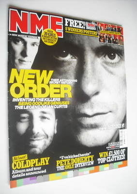 <!--2005-03-05-->NME magazine - New Order cover (5 March 2005)