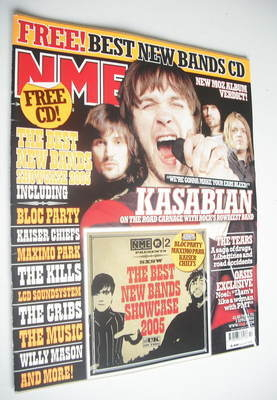 <!--2005-04-02-->NME magazine - Kasabian cover (2 April 2005)