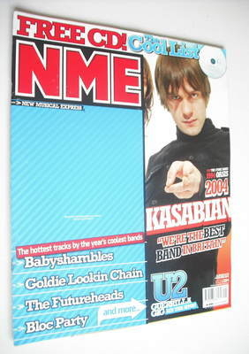 <!--2004-12-04-->NME magazine - Kasabian cover (4 December 2004)