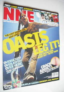 NME magazine - Liam Gallagher cover (15 March 2003)