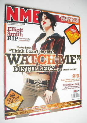 <!--2003-11-01-->NME magazine - Brody Dalle cover (1 November 2003)