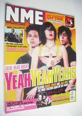 <!--2003-04-12-->NME magazine - Yeah Yeah Yeahs cover (12 April 2003)