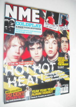 NME magazine - Hot Hot Heat cover (19 April 2003)