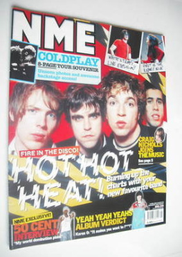 <!--2003-04-19-->NME magazine - Hot Hot Heat cover (19 April 2003)