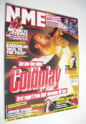 <!--2003-04-26-->NME magazine - Coldplay cover (26 April 2003)