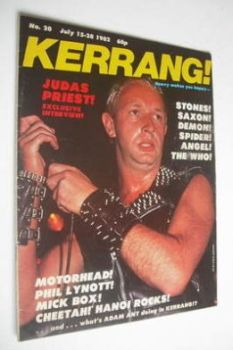 Kerrang magazine - Judas Priest cover (15-28 July 1982 - Issue 20)