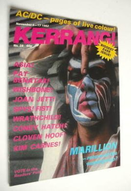 <!--1982-11-04-->Kerrang magazine - Fish cover (4-17 November 1982 - Issue