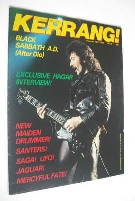 <!--1983-02-10-->Kerrang magazine - Tony Iommi cover (10-23 February 1983 -