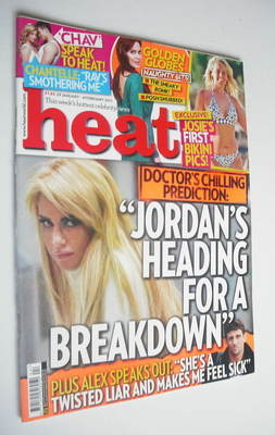 <!--2011-01-29-->Heat magazine - Jordan cover (29 January - 4 February 2011