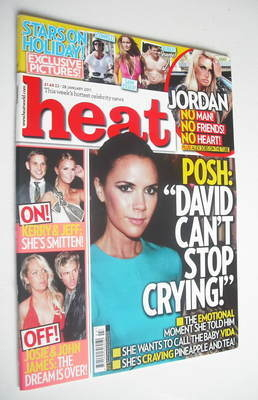 <!--2011-01-22-->Heat magazine - Victoria Beckham cover (22-28 January 2011