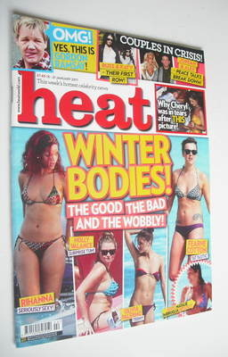 <!--2011-01-15-->Heat magazine - Winter Bodies cover (15-21 January 2011)