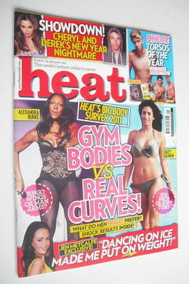 <!--2011-01-08-->Heat magazine - Gym Bodies vs Real Curves cover (8-14 Janu