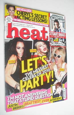 <!--2010-12-31-->Heat magazine - Let's Party cover (31 December 2010 - 7 Ja