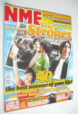 <!--2003-05-31-->NME magazine - The Strokes cover (31 May 2003)
