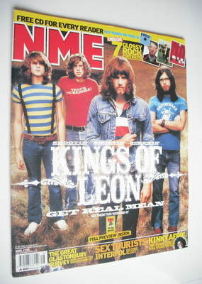 <!--2003-07-12-->NME magazine - Kings Of Leon cover (12 July 2003)