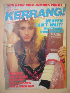 <!--1985-12-12-->Kerrang magazine - Robert Sweet cover (12-25 December 1985
