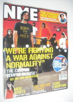 NME magazine - The Cooper Temple Clause cover (6 September 2003)