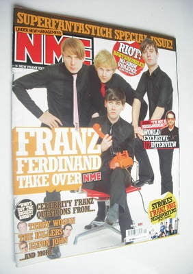 <!--2005-01-08-->NME magazine - Franz Ferdinand cover (8 January 2005)