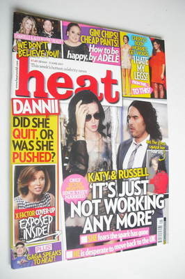 <!--2011-05-28-->Heat magazine - Katy Perry and Russell Brand cover (28 May