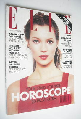 <!--1994-01-->British Elle magazine - January 1994 - Kate Moss cover